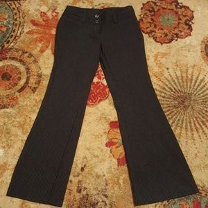 Tracy Evans pinstripe bootcut pants